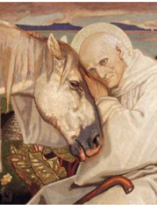 St Columba and the White Horse