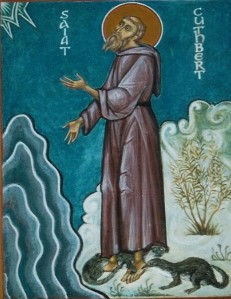 St Cuthbert and the Otters